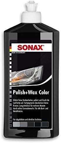 Sonax 296041 Polish Wax Color Schwarz 500 Ml Politur Mit Farbpigmenten Und Wachsanteilen Art Nr 2961000 Auto