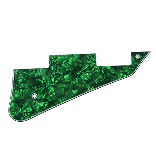 Musiclily Electric Guitar Pickguard for Gibson Les Paul Modern Style Guitar Parts, 4Ply Pearl - Les Guitar Green Paul
