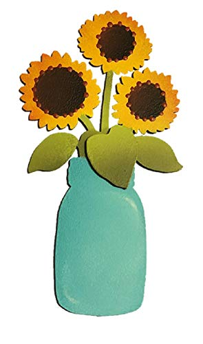 Roeda Brighten your LIfe 13787M Sunflower Canning Jar Magnet Made in USA -