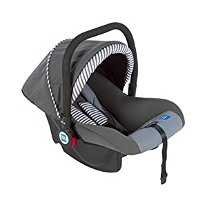 Mee Mee Baby Car Seat Cum Carry Cot with Thick Cushioned Seat (Dark Grey)
