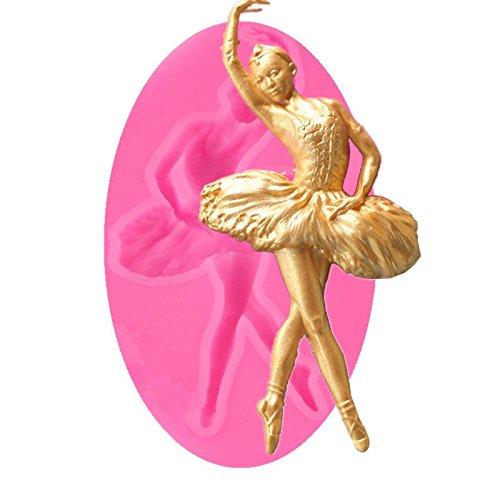 Aaasue Coque en silicone danseuse Forme Fondant Moules à gâteaux anti-adhésif, sans BPA Moule à chocolat, gelée, bonbons, Cupcake DIY Outil de cuisson