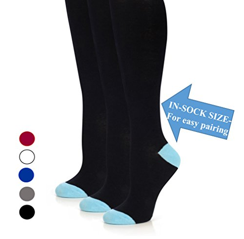 The Top Fit Womens Knee High Cotton Compression Solid Dress Socks by topfit