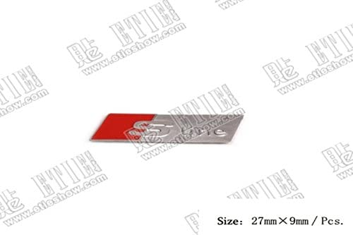 S line auto aufkleber 3D Emblem Badge Abzeichen car Sticker emblema Abziehbild Lenkrad Alu 5 stk
