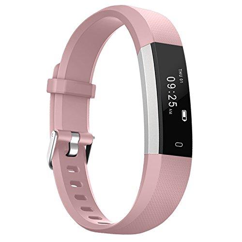 AUSUN Fitness Tracker, 115U Activity Tracker Sleep Monitor Step/Distance/Calories Counter Touch Screen Pedometer Watch for Kids Men Women, Pink by AUSUN