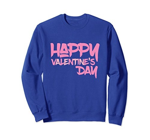Unisex Happy Valentine's Day Single & Couples Matching Sweater Idea Large Royal Blue