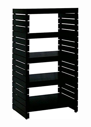 Organize It All Freestanding 4 Tier Storage Shelf - Black