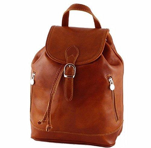 BC701 cognac - Bolso mochila de Piel para mujer coñac coñac