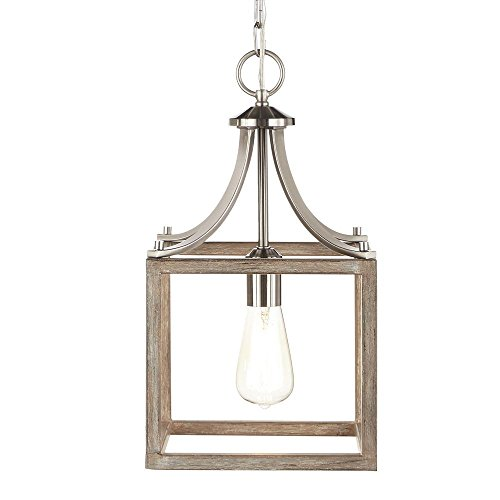 Home Decorators Collection Boswell Quarter Collection 1-Light Brushed Nickel Mini Pendant by Home Decorators (Image #1)
