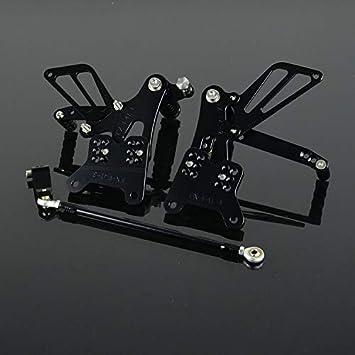 JFG RACING CNC Adjustable Rearsets Rear Sets For Honda CBR600 F3 2001-2004,F4i 2001-2007 Red F4 1999-2001