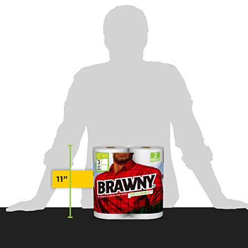 Brawny Tear-A-Square Paper Towels, 12 Rolls, 12 = 24 Regular Rolls, 3 Sheet Size Options, Quarter Size Sheets by Brawny (Image #11)