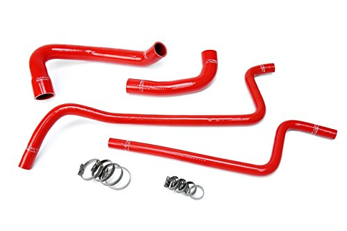 ilicone Radiator + Heater Hose Kit for 00-01 Jeep Wrangler TJ 4.0L Left Hand Drive ()