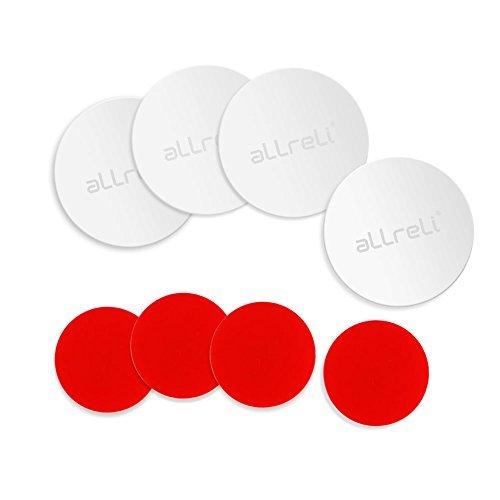 aLLreli–(Paquete de 8) Paquete De 4Placas de metal con calcomanía y 4Pack 3m cintas adhesivas para teléfono...