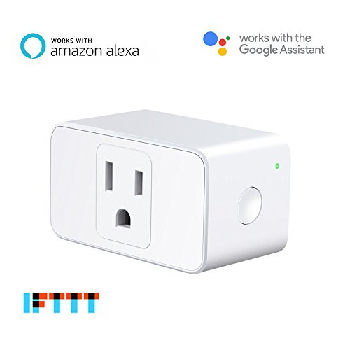 meross WiFi Smart Plug Mini, Occupies Only One Socket, App Remote Control Devices from Anywhere, No Hub Needed, FCC and ETL Complied (MSS110), Works with Alexa and Google Assistant by meross
