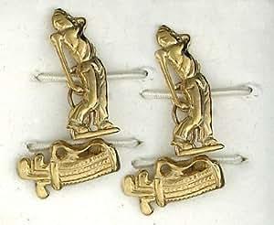 Joyas de oro de J R 406544 9ct golfista y clubes de gemelos hecho en joyas cuarto B ' Ham