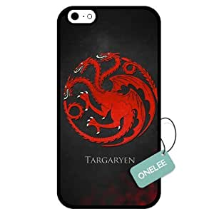 Onelee(TM) - Customized Hot TV Game of Thrones Targaryen TPU Case Cover for Apple iPhone 6 - Black 04