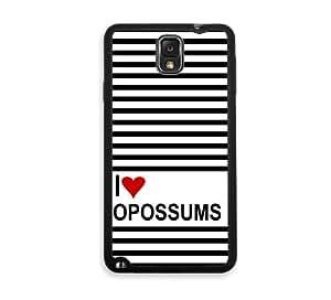 Love Heart Opossums Samsung Galaxy Note 3 Note III Case - Fits Samsung Galaxy Note 3 Note III