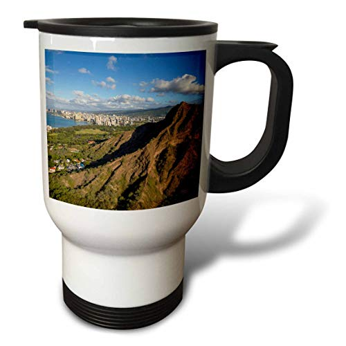 3dRose Danita Delimont - Hawaii - Diamond Head, Waikiki, Oahu, Hawaii - 14oz Stainless Steel Travel Mug (tm_314791_1)