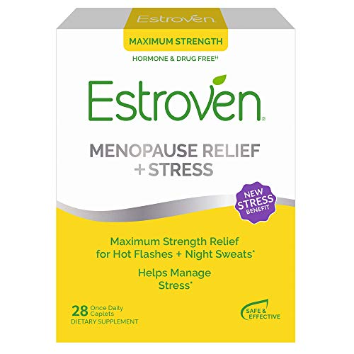 Estroven Max Strength Menopause Relief for Hot Flashes + Night Sweats – Stress Management Support – Black Cohosh, Green…