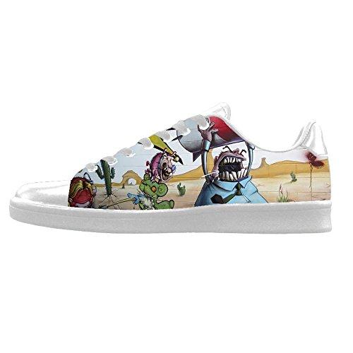 Zapatos De Lona Personalizados Graffiti Para Hombre Zapatos De Cordones Altos Sobre Zapatillas De Lona.