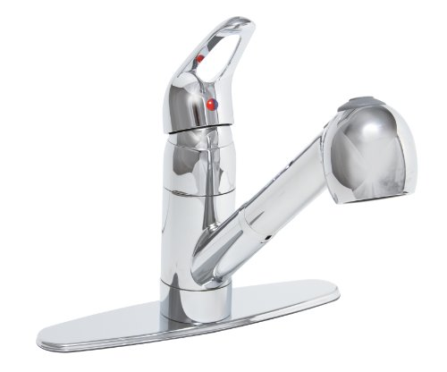 PREMIER GIDDS-120437LF Bayview Kitchen Faucet with Pull-Out and Single Handle, Chrome, Lead Free