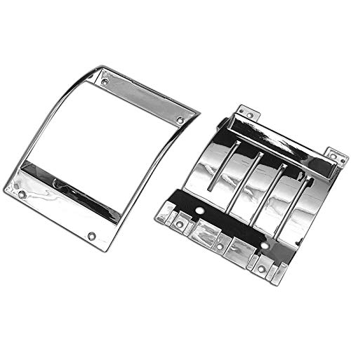 Eckler's Premier Quality Products 57-130899 Chevy Heater Control Bezel Set, Deluxe,