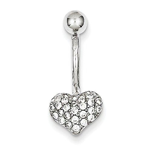 Jewelry by Sweet Pea 10k White Gold W//Pav Body Jewelry