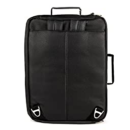 Lencca Quadra 4-in-1 Backpack + Messenger + Briefcase + Tote Bag for up to 15.6 inch Laptops - Black/Black