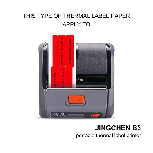 """JINGCHEN Thermal Cable Label Paper, Widely Used in Communication/Power/Computer-room/ Accessories/Cable Label Printing, 0.98""""x 1.50""""+1.57"""", 200 Labels/Roll,White by JINGCHEN (Image #4)"""