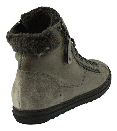 Paul Green 4321-101 Damen Sneaker Aus Feinstem Glattleder Warmes Textilfutter Grau