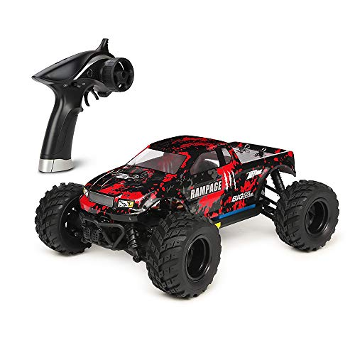 (HBX 1:18 Scale All Terrain RC Car 36KM/H High Speed, 4WD Electric Vehicle,2.4 GHz Radio Controller, Included Battery and Charger,Waterproof Off-Road Truck (Red))