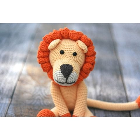 Handmade Lion Toy - Crocheted By Hand by our green house