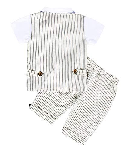 AmzBarley Gentleman Abiti Bambini Formale Camicia Pantaloni Giubbotto Cravatta Set di Vestiti Bimbo Ragazzi per Festa… 2