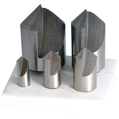 HHIP 2000-0031 5 Piece (82 Degree-1/4~1 Inch) HSS Countersink Set
