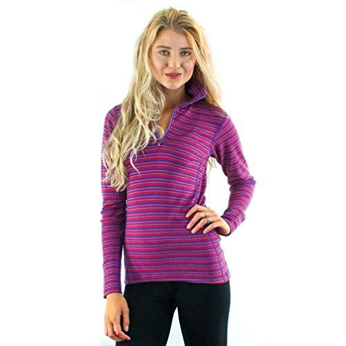 WoolX X557 Womens Brooke 1/4 Zip Top - Black - XSM