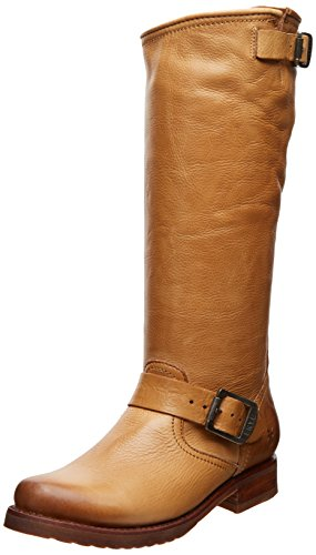 FRYE Women's Veronica Slouch Boot, Camel Soft Vintage Leather, 9 M US