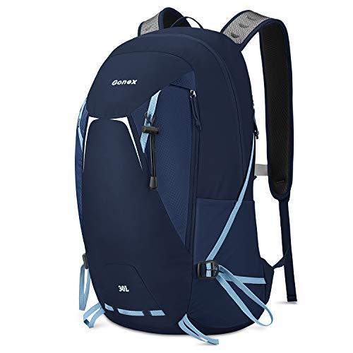 Gonex 30L Backpack Large Capacity Hiking Travel Daypack Lightweight Packable UK