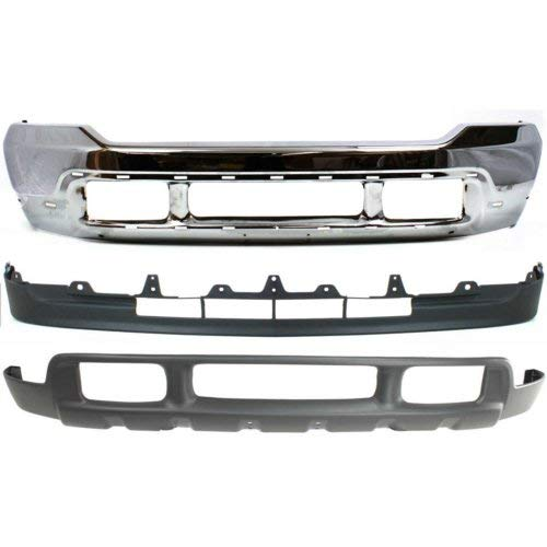 Bumper Kit Compatible with FORD EXCURSION/F-Series Super Duty 2001-2004 Front Set of 3 With Valance