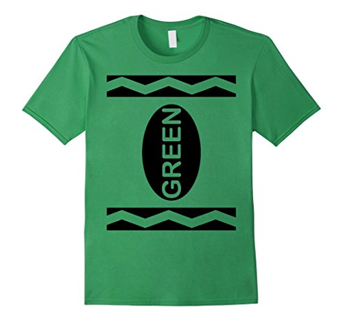 [Men's Green Crayon Costume T-Shirt Halloween Tee 2XL Grass] (Adult Green Crayon Costumes)
