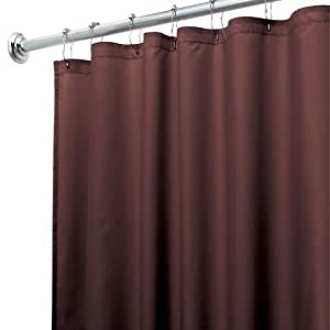 Heavy Duty Magnetized Shower Curtain Liner Mildew Resistant Choco