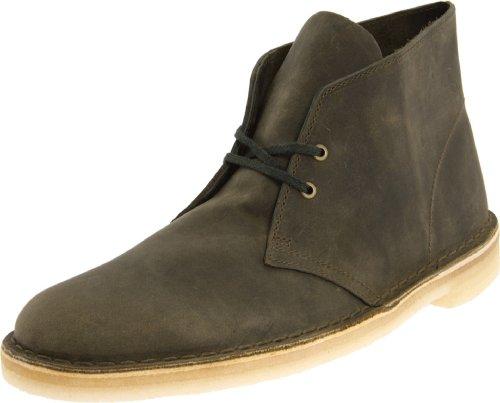Clarks Men's Desert Boot,Olive Leather,12 M US