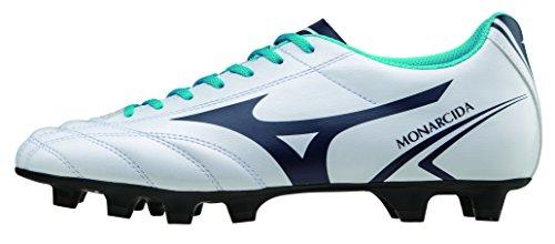Mizuno - Mizuno Monarcida MD Zapatos Fùtbol Hombre Cuero Blanco 152401 Blanco