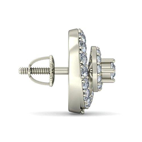 Or blanc 18K 1.354CT TW Round-cut-diamond (IJ | SI) Boucles d'oreille à tige