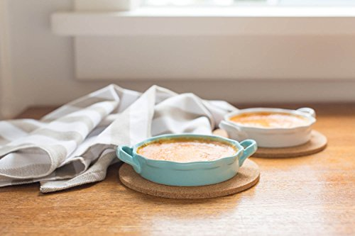 Now Designs Creme Brulee Ramekin Set, Set of 4, Eggshell Blue by Now Designs (Image #1)