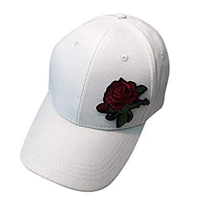 Clearance ! Hot Sale! Charberry Mens Embroidery Rose Duck Tongue Baseball Cap Unisex Snapback Hip Hop Flat Hat by China