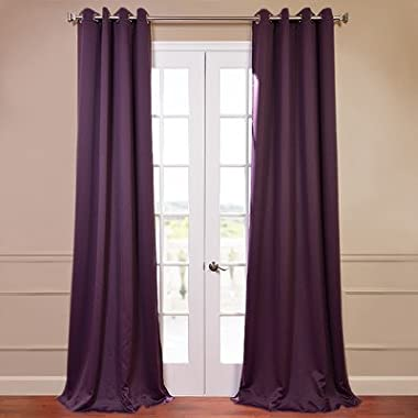 Half Price Drapes BOCH-201301-96-GR Grommet Blackout Curtain, Aubergine