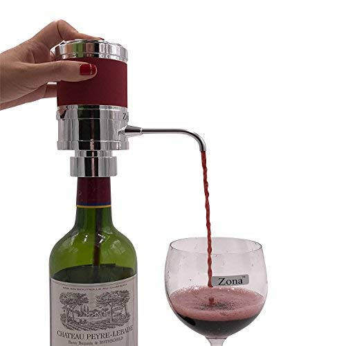 - Zona Electric Wine & Spirit Aerator Dispenser,Premium One-Touch Aerating Pourer(Color: Silver)