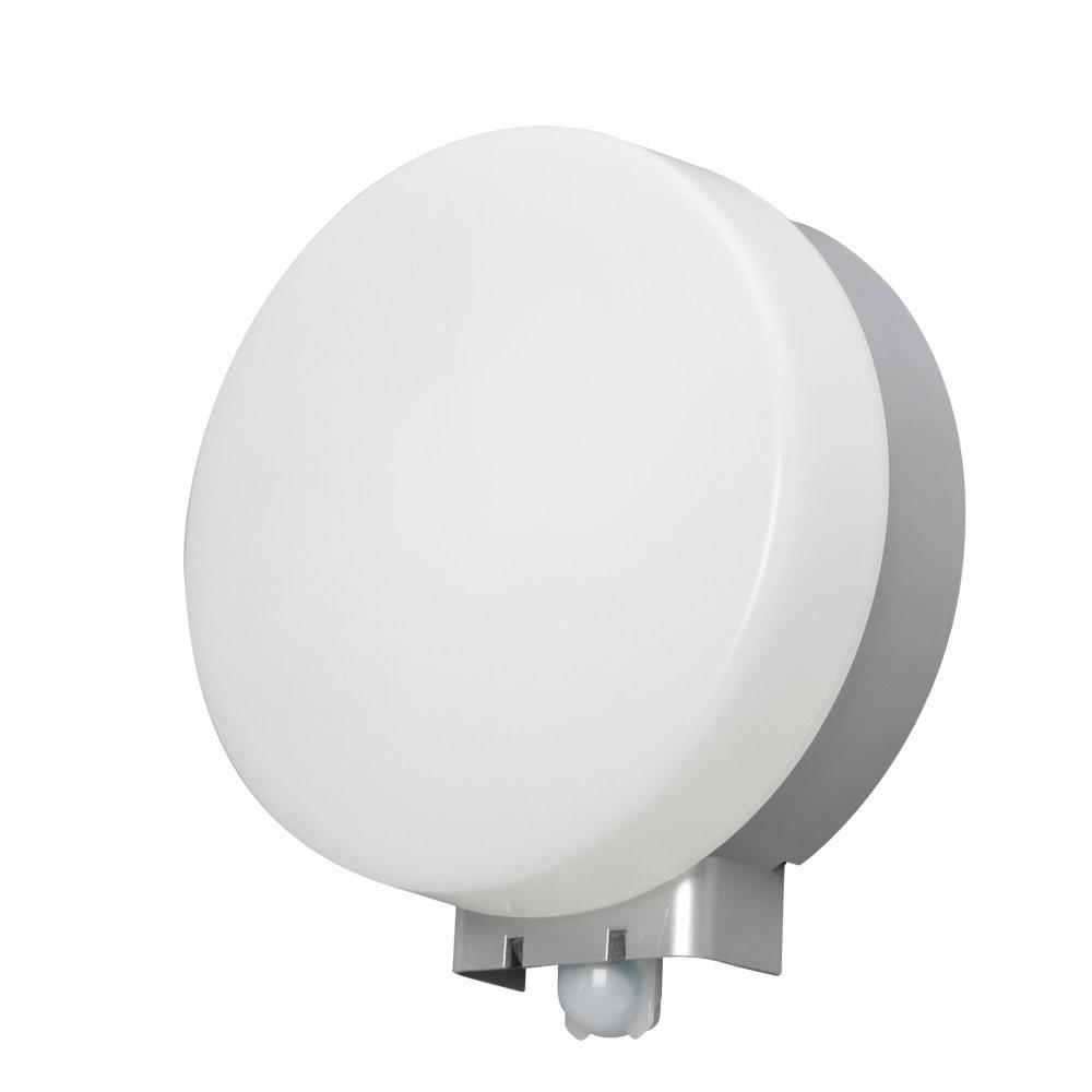 アイリスオーヤマ LEDポーチ灯 人感センサー付 丸型 昼白色 520lm IRBR5N-CIPLS-MSBS B00UT7KERS  昼白色 円型