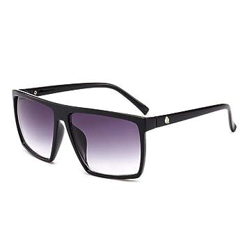 ZHOUYF Gafas de Sol Gafas Cuadradas para Hombres Espejo para ...
