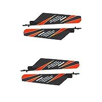 4 PCS Helicoppter Spare Parts Main Blade Props Propellers Compatible for WLtoys V911 V911-1 V911-2 RC Helicopter (Orange)