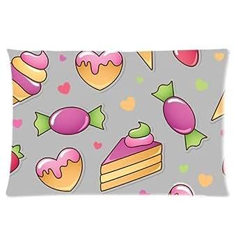 Custom Sweet Fruit Cream Icecream Rectangle Soft Pillow Case Standard Size 16x24